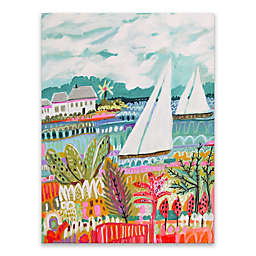 Two Sailboats and Cottage II 18-Inch x 24-Inch Canvas Wall Art