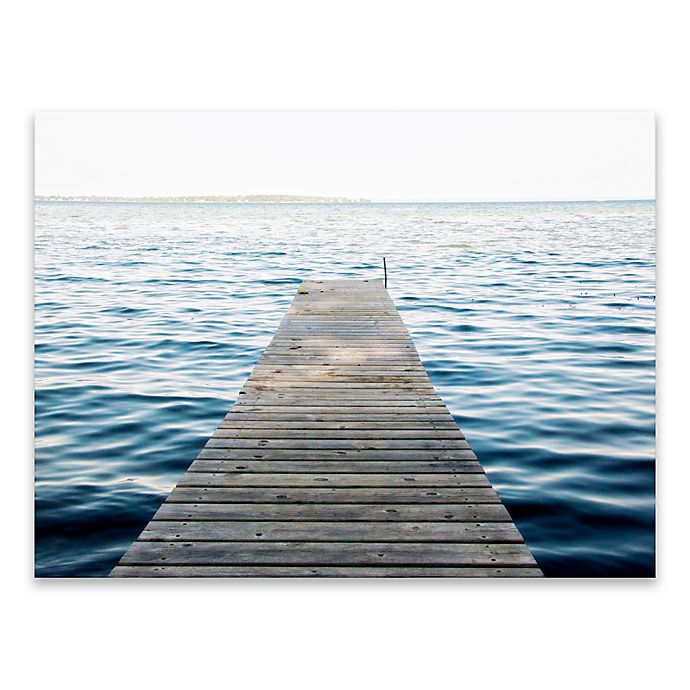 Alternate image 1 for Lake Dock 24-Inch x 18-Inch Canvas Wall Art