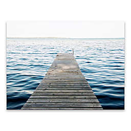 Lake Dock 24-Inch x 18-Inch Canvas Wall Art