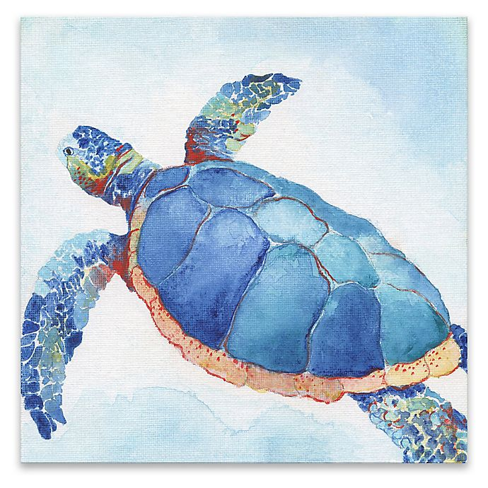 Alternate image 1 for Galapagos Sea Turtle II 18-Inch Square Canvas Wall Art