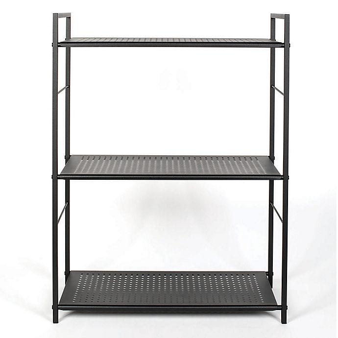 Alternate image 1 for Relaxed Living® 3-Tier Shelf in Matte Black