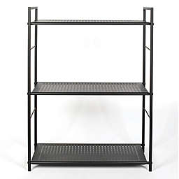 Relaxed Living® 3-Tier Metal Shelving in Matte Black