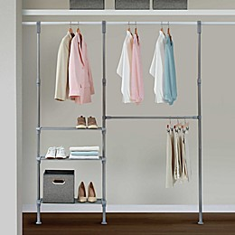 Relaxed Living Adjustable Closet System in Satin Nickel