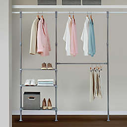 Relaxed Living Adjustable Metal Closet System in Satin Nickel