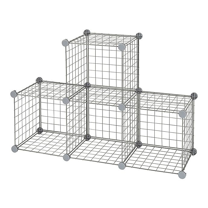 Alternate image 1 for Relaxed Living® Wire Cube Grid in Grey