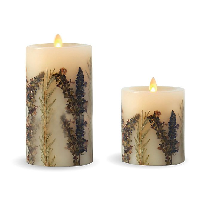 Luminara® Embedded Lavender & Thyme Real-Flame Effect ...