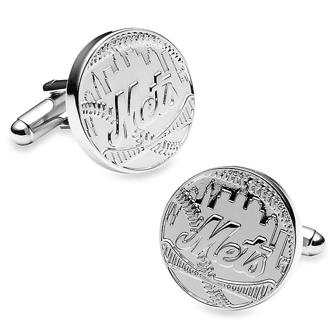 Alternate image 1 for MLB Silver Edition New York Mets Cufflinks