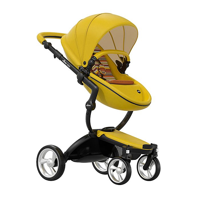 Alternate image 1 for Mima® Xari Black Chassis Stroller in Black/Yellow