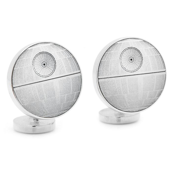 Alternate image 1 for Star Wars™ Death Star Blue Print Cufflinks