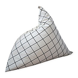 Wildfire Teepees® Grid Bean Bag Chair in Black/White