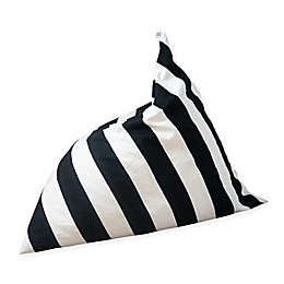 Wildfire Teepees® Stripe Bean Bag Chair in Black/White