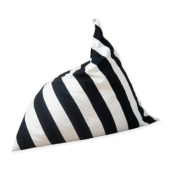 Enjoyable Wildfire Teepees Stripe Bean Bag Chair In Black White Squirreltailoven Fun Painted Chair Ideas Images Squirreltailovenorg