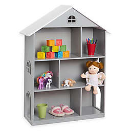 Wildkin Dollhouse Bookcase in Grey