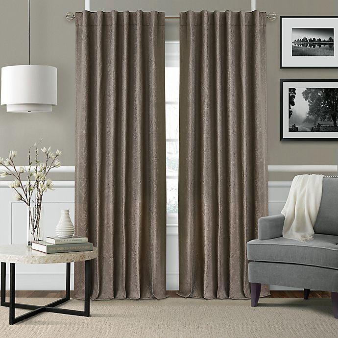 Alternate image 1 for Elrene Leila 84-Inch Rod Pocket/Back Tab Matelasse Darkening Window Curtain Panel in Dark Taupe