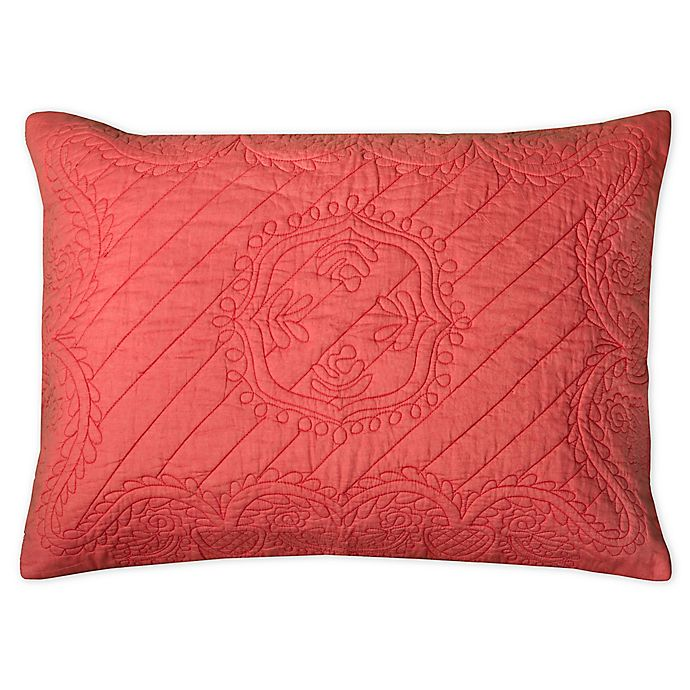 Alternate image 1 for Rizzy Home Moroccan Fling Floral Standard Pillow Sham in Pink