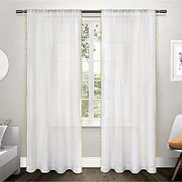 Pom Pom 2-Pack 84-Inch Rod Pocket Window Curtain in Yellow
