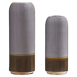 Madison Park Amelia Vases in Light Grey (Set of 2)