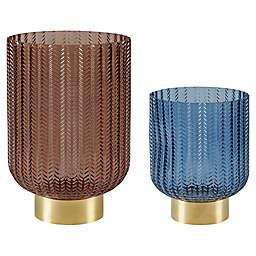 Madison Park Serene Herringbone Glass Vase