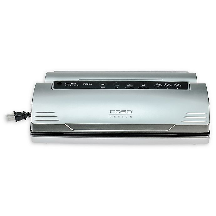 Alternate image 1 for Caso® VC 200 Stainless Steel Food Vacuum Sealer