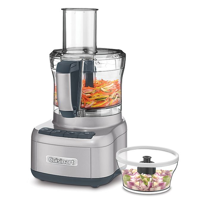 Alternate image 1 for Cuisinart® 8-Cup Food Processor with bonus 3-Cup Bowl in Silver