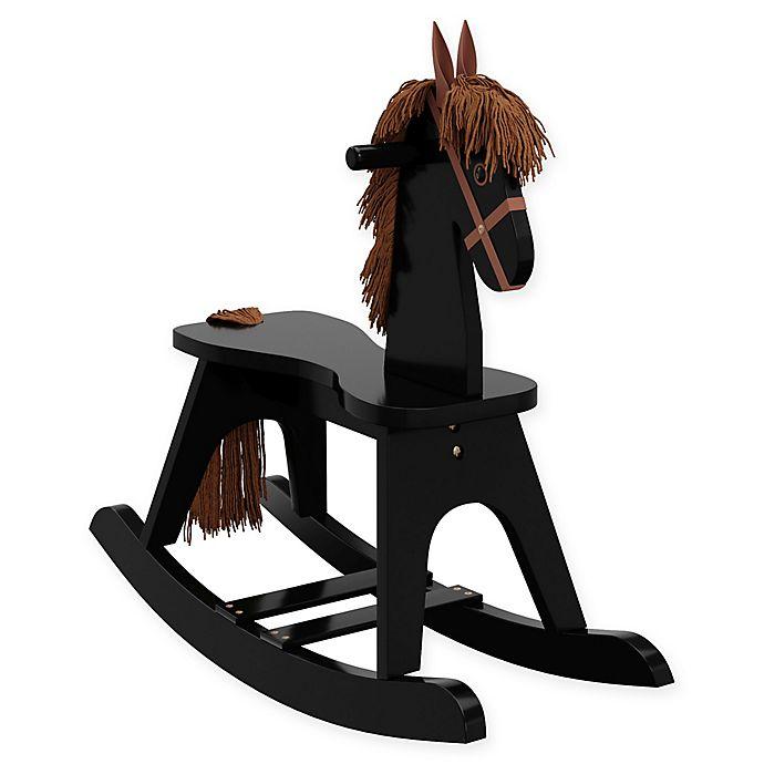 Alternate image 1 for Storkcraft Wooden Rocking Horse in Black