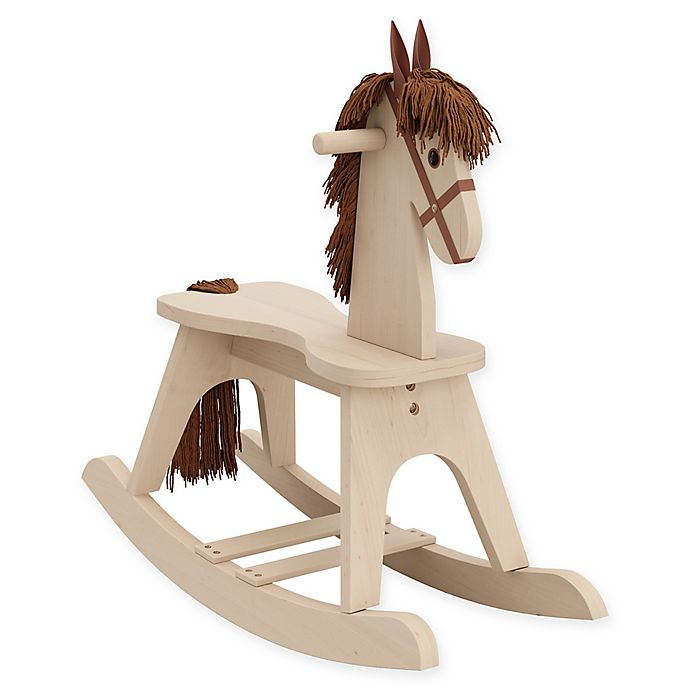 Alternate image 1 for Storkcraft Wooden Rocking Horse in Driftwood