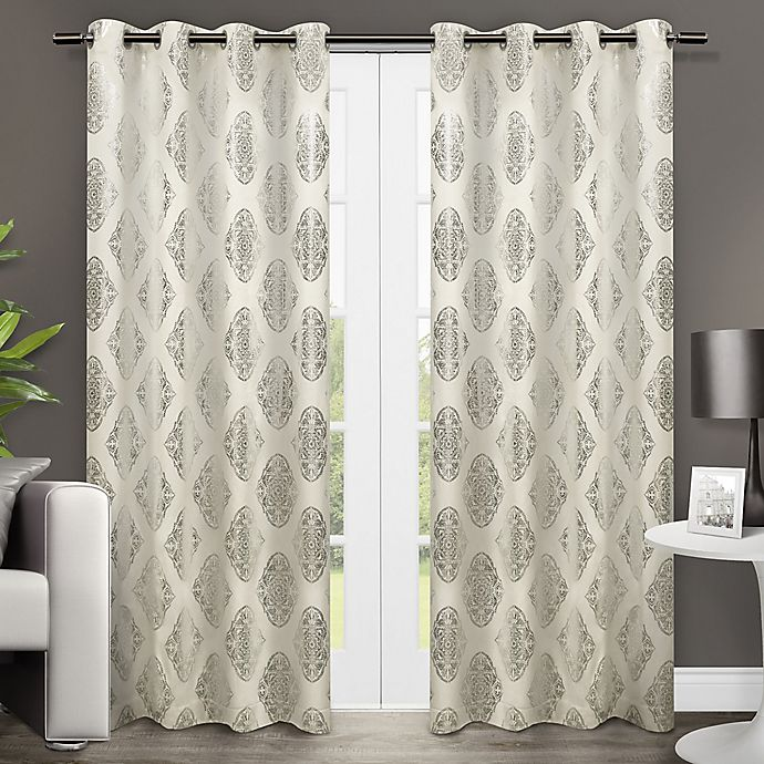 Alternate image 1 for Augustus 84-Inch Grommet Window Curtain Panel Pair in Off White