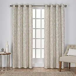 Lamont Grommet Window Curtain Panel Pair