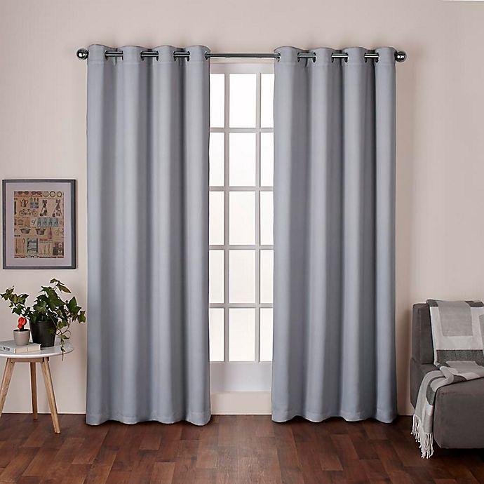 Alternate image 1 for Heath 96-Inch Grommet Top Room Darkening Window Curtain Panel Pair in Dove Grey