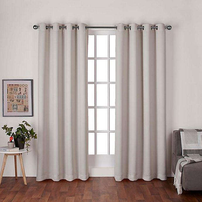 Alternate image 1 for Heath 96-Inch Grommet Top Room Darkening Window Curtain Panel Pair in Natural