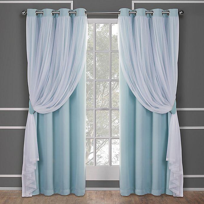 Alternate image 1 for Catarina 2-Pack Grommet Room Darkening Window Curtain