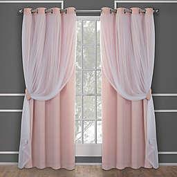 Catarina 2-Pack 63-Inch Grommet Room Darkening Window Curtain in Blush