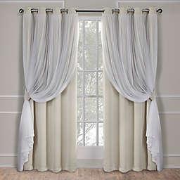 Catarina 2-Pack 108-Inch Grommet Room Darkening Window Curtain in Sand