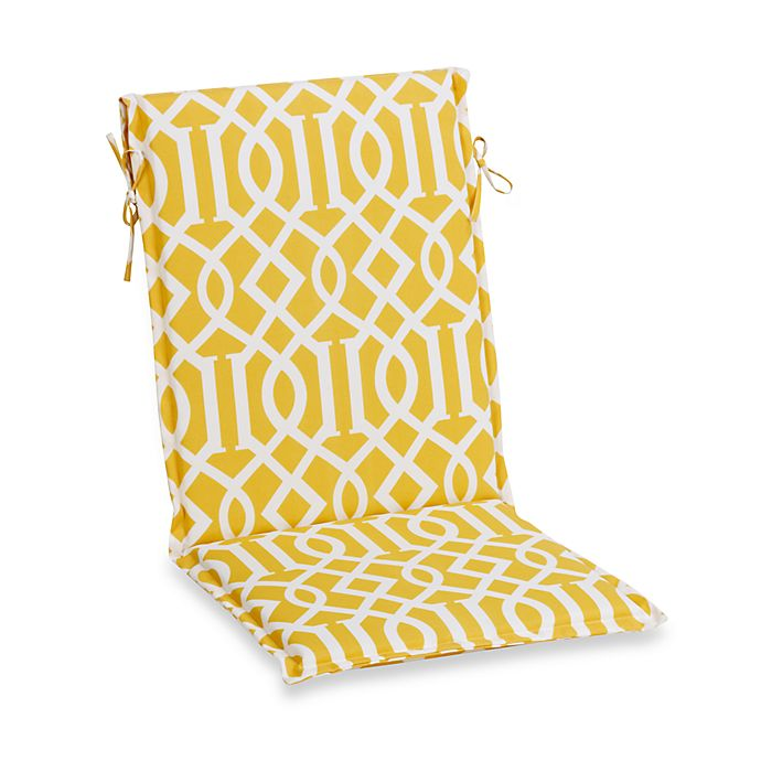 Sling Cushion With Ties In Yellow Trellis Bed Bath Amp Beyond