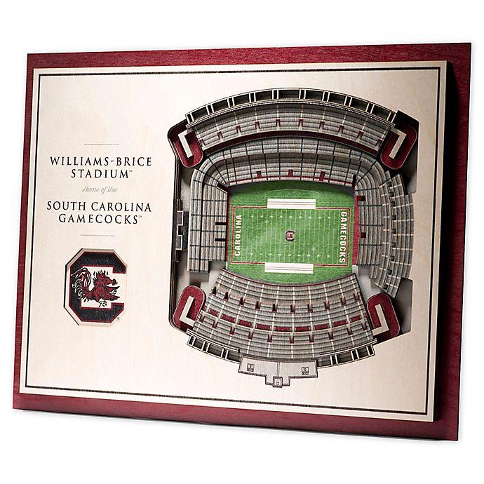 Alternate image 1 for University of South Carolina 5-Layer StadiumViews 3D Wall Art