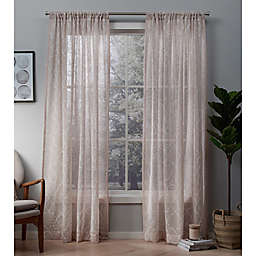 Cali 2-Pack 96-Inch Rod Pocket Window Curtain in Blush