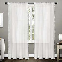 Tassels 2-Pack 84-Inch Rod Pocket Window Curtain in Winter White