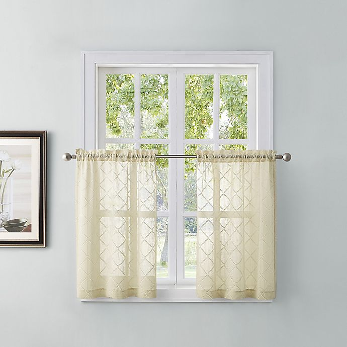 Alternate image 1 for Tiburon 45-Inch Window Curtain Tier Pair in Ivory