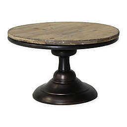 AREOHome Glenn Wood & Metal Pedestal Accent