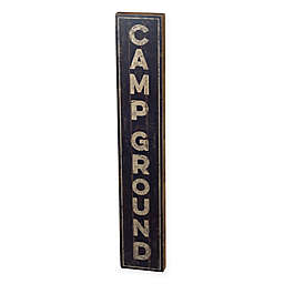 Campground Sign Multicolor Wall Art