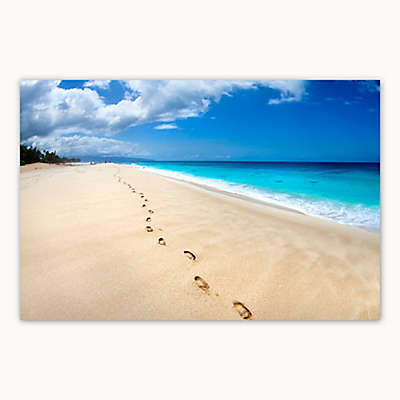 Christopher Knight Collection® Footsteps on the Beach Canvas Wall Art