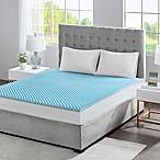 Sleep Philosophy Flexapedic 1.5-Inch Gel Memory Foam King Mattress Topper in Blue