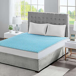 Sleep Philosophy Flexapedic 1.5-Inch Gel Memory Foam Twin XL Mattress Topper in Blue