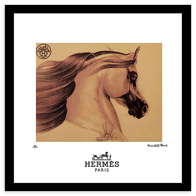 Alternate image 1 for Fairchild Paris Horse 20-Inch x 20-Inch Framed Wall Art in Gold/Brown