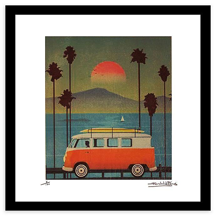 Alternate image 1 for Fairchild Paris Red Van 20-Inch x 20-Inch Framed Wall Art in Green/Blue