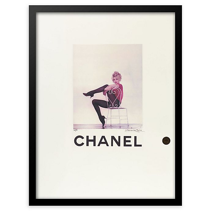 Fairchild Paris Ballerina Chanel Framed Wall Art In Black