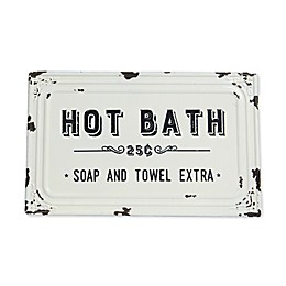 Sweet Bird & Co™ Hot Bath Metal Wall Art in White