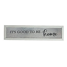 Sweet Bird & Co. It's Good to Be Home 32-Inch x 8-Inch Galvanized Wood Wall Art