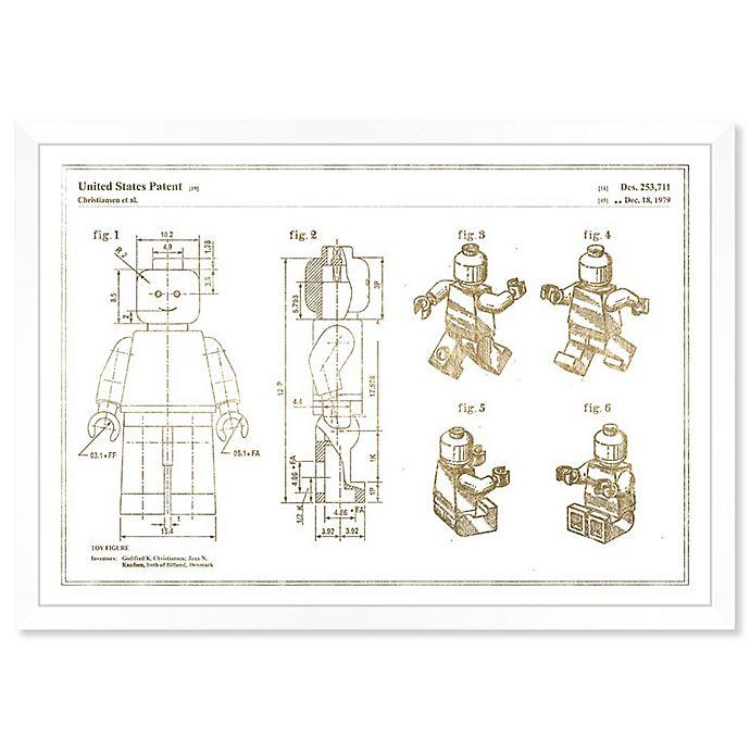 Alternate image 1 for Oliver Gal™ Toys 1979, Gold Metallic Paper Framed Print in Gold