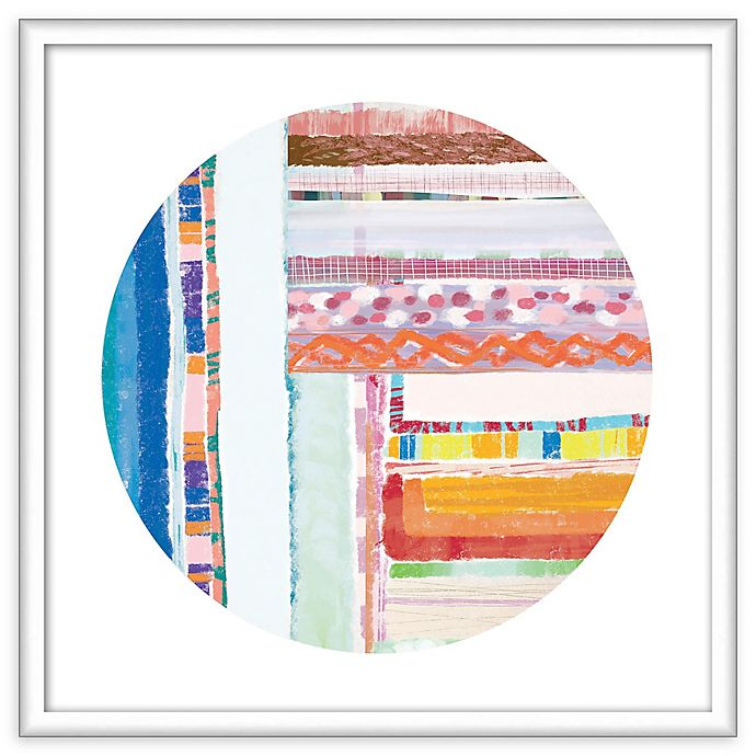 Alternate image 1 for PTM Images Patchwork Circle 21.5-Inch Framed Wall Art